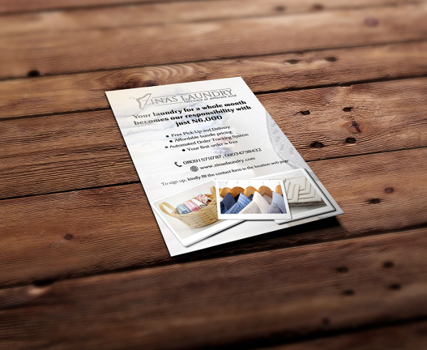 Cool Laundry Flyer Template