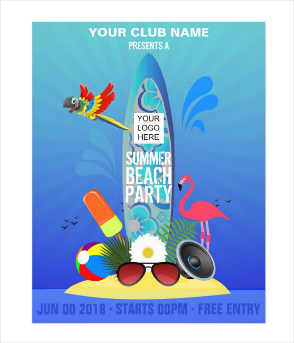 Corporate Beach Party Flyer Template