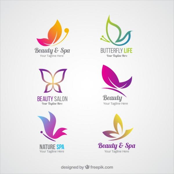 Free Set of Beauty Logo Templates