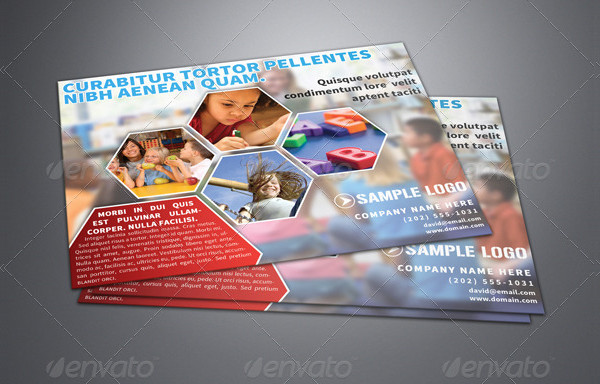 Horizontal Day Care Flyer Template
