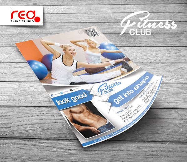 Corporate Fitness Club Poster Template