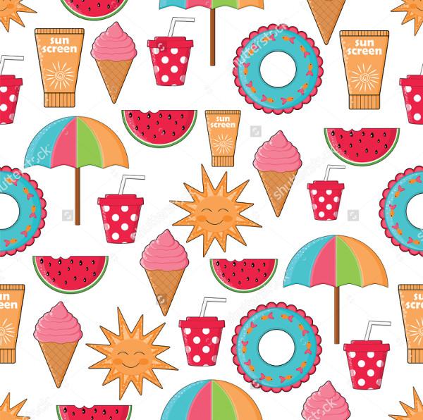 Vector Summer Holidays Pattern