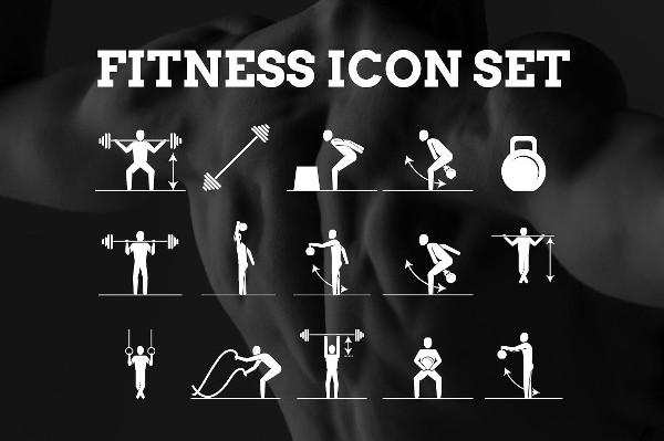 Popular Fitness Icon Set