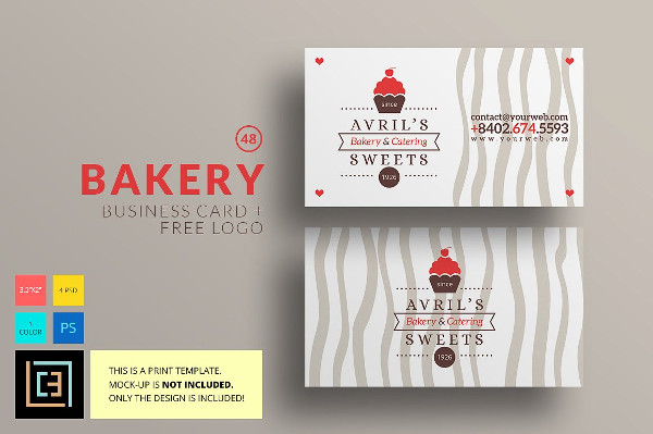 Unique Bakery Logo & Business Card Template