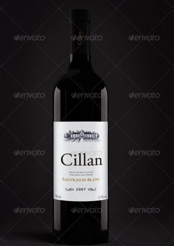 Best Wine Bottle Mockup