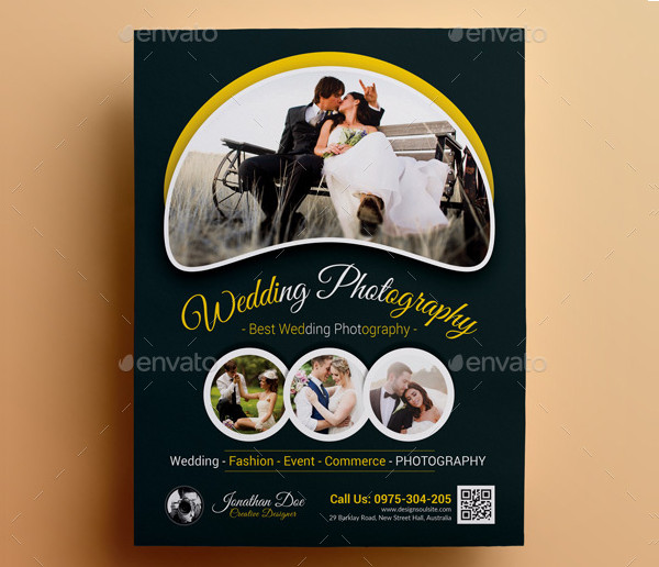 Dark Photography Flyer Template for Wedding