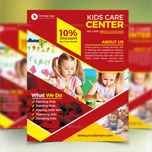 Day Care Services Flyer Template