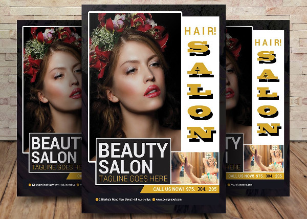 Deluxe Flyer Template of a Salon