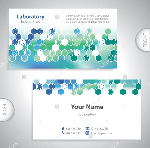 Flat Design Medical Laboratory Business Card Template