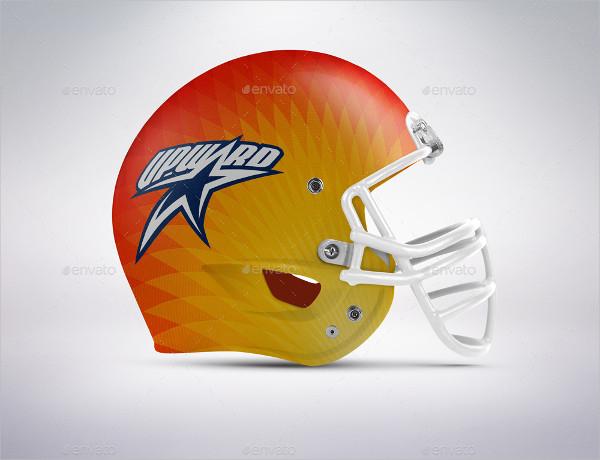 Cool Football Helmet Display Mockup