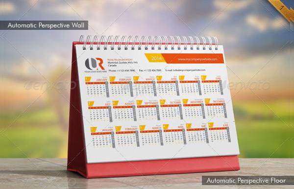 Desk Calendar Mockups Set
