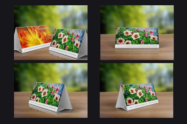 Desk Calendars Mock-Up Design