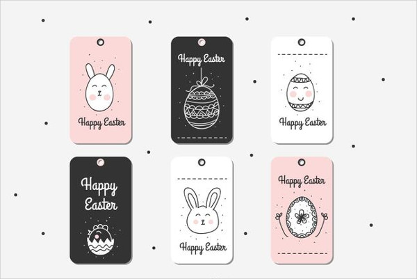 Doodle Easter Gift Tag Free