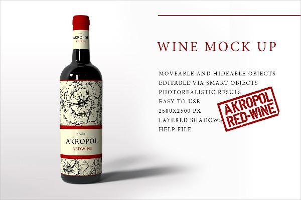 Easy to Use Wine Mockup