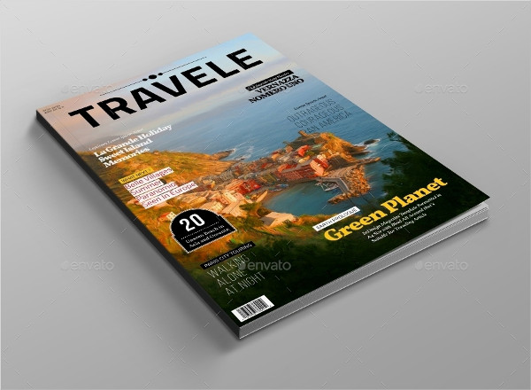 Editable Traveling Magazine Template