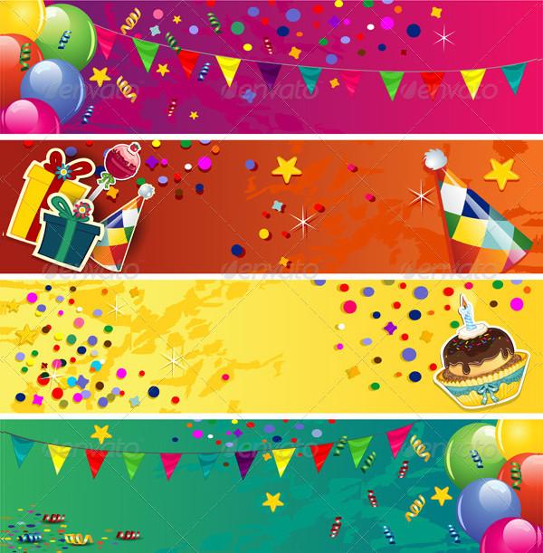 Decorative Birthday Banner Templates