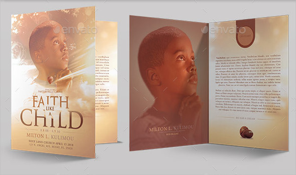 12 child funeral program templates free premium download