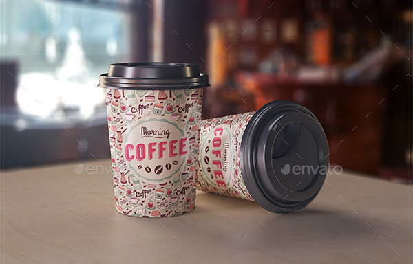 Fully Editable Coffee Cup Mock-Up