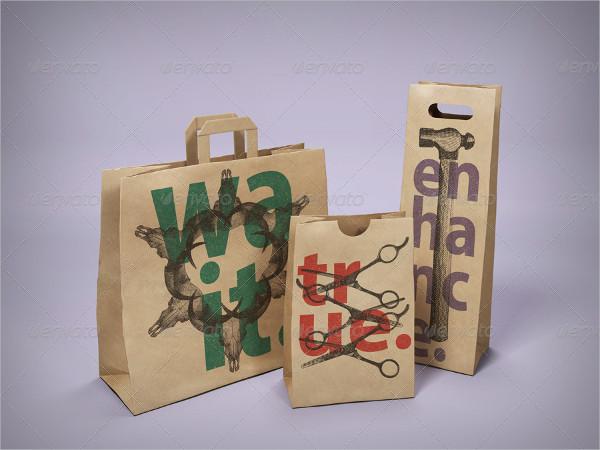 Editable Paper Bag Mockups Pack
