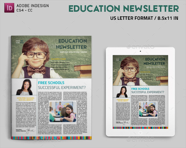 Education School Newsletter Design