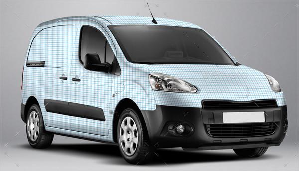 Electric Van Wrap Mockup