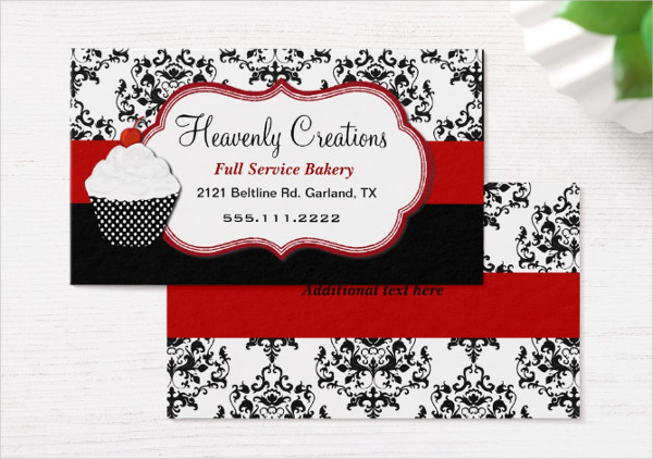 Elegant Cupcake Bakery Business Card Template