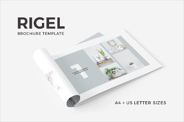 Elegant Horizontal Brochure Design