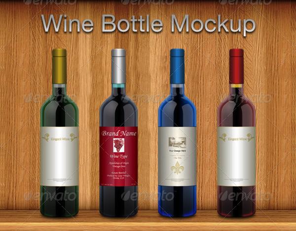 Elegant Wine Bottle Mockup