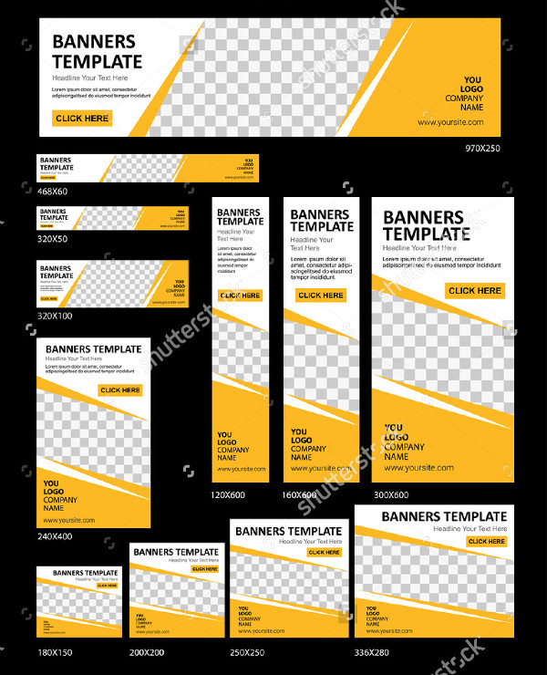 Creative Web Banners Templates Vector