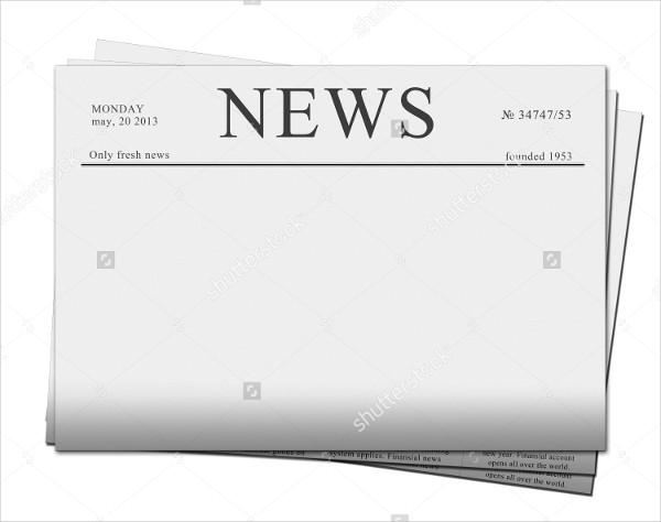 Empty Newspaper Mockup