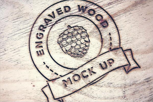 Engraved Wood Logo Mockups
