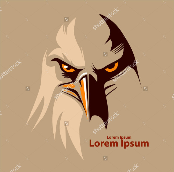 Simple Eagle Head Logo Illustration