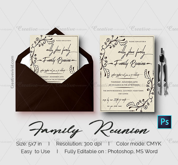 Latest Family Reunion Invitation Card