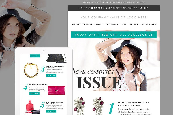 Fashion Newsletter Template PSD