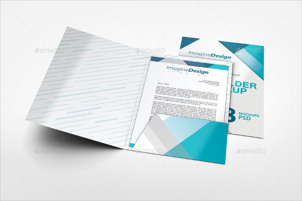 Company File Folder Mockup