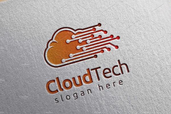 Cloud Tech Logo Template