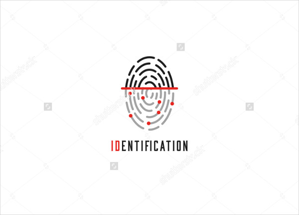 Fingerprint Scanner Logo Mock-Up