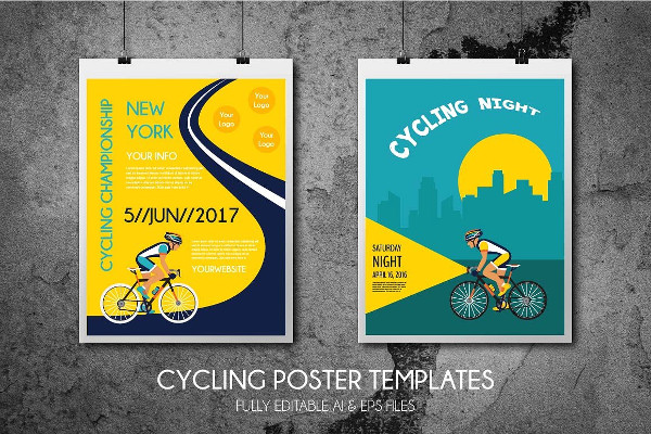 Clean Cycling Poster Templates
