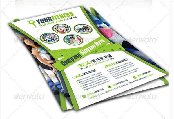 Fitness Salon Business Flyer Template