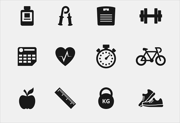 Fitness Simple Icons