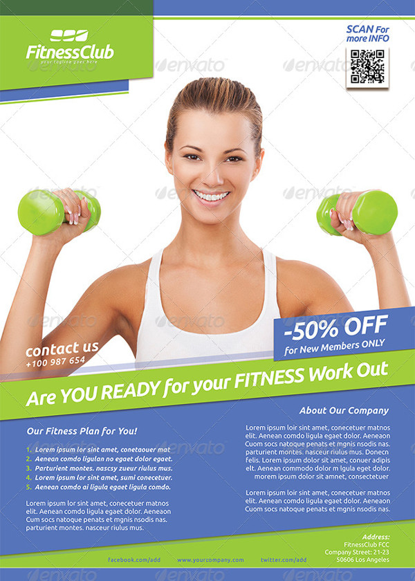 Unique Fitness Training Poster Template