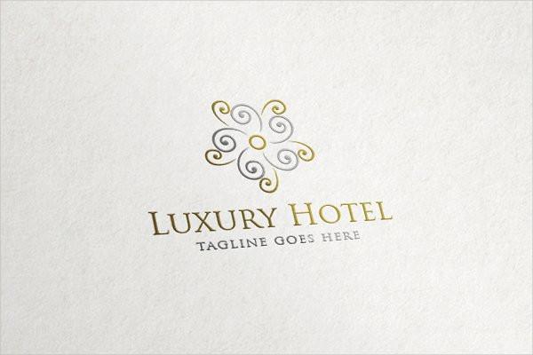 Flower Logo Template for Luxury Hotel