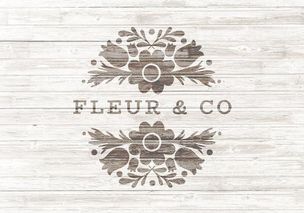 Pretty Floral Logo Template