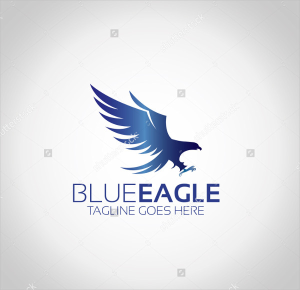 Blue Eagle Vector Logo Template