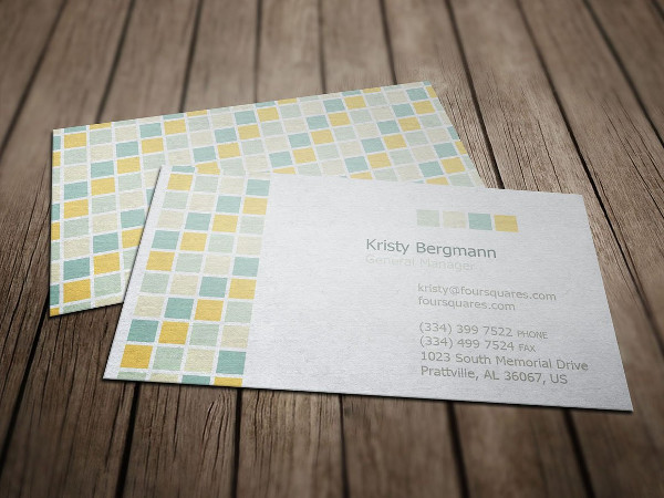 Four Tiles Service Business Card Template