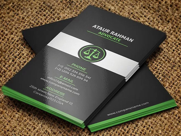 Free Advocate Business Card Template