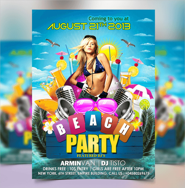 Free PSD Beach Flyer Template