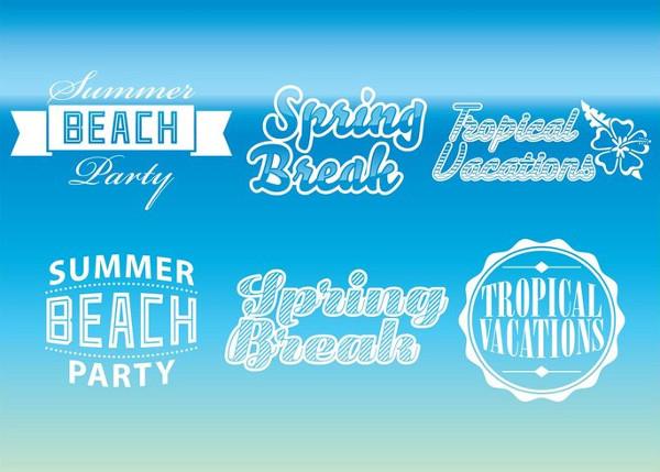 Free Beach Party Logo Templates