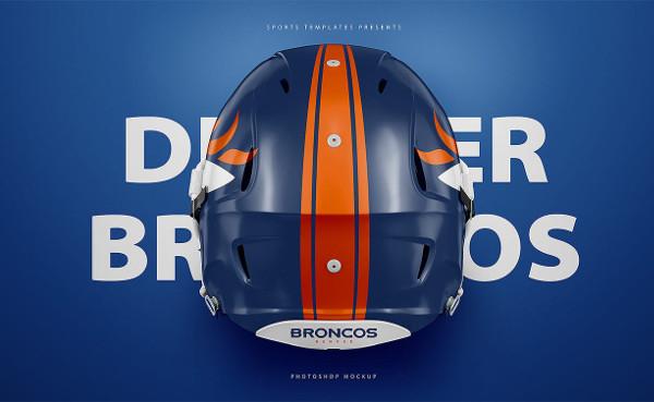 Free Football PSD Helmet Mockup Design