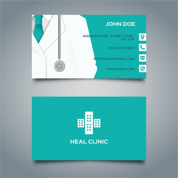 Free Vector Health Clinic Business Card